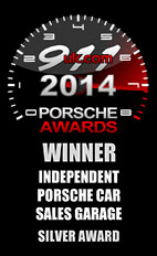Independent Porsche Car Sales Garage Silver Award 2014