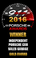 Independent Porsche Car Sales Garage Gold Award 2016
